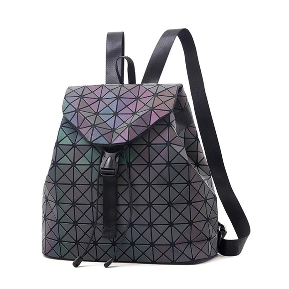 Geometric Backpack - color changing with light